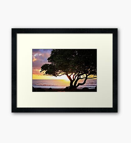 Kauai - Hello Sunrise Framed Print