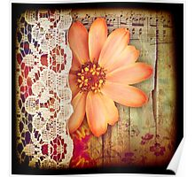 Flower & Lace Poster