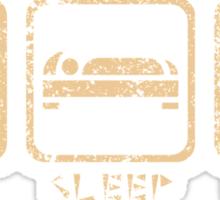Eat, sleep, hunt. (alternative version) Sticker