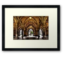 Cloisters at the University Framed Print