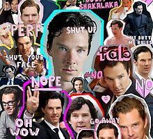 benedict cumberbatch collage by crowleying