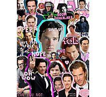 benedict cumberbatch collage Photographic Print