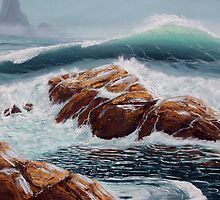 Waves and Tide Pools by Lorraine Foster