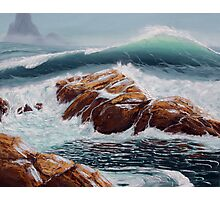 Waves and Tide Pools Photographic Print