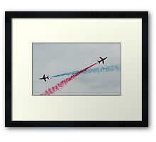 Red Arrows Double Crossing Framed Print