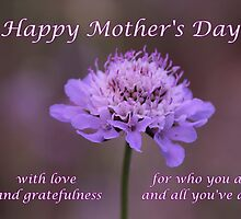 Purple Flower Mother Day's Card/mug/tote/cushion/case/pouch/skin by hummingbirds