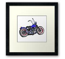 Knucklehead bobber in colour Framed Print