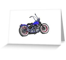 Knucklehead bobber in colour Greeting Card