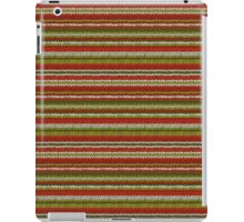 Knitted Pattern Set 17 - Red/Green/White iPad Case/Skin