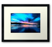 Twilight Zone - Newport - The HDR Series Framed Print