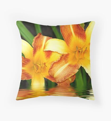 Frans Hals Daylily Throw Pillow