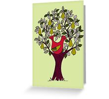 And a Partridge in a Pear Tree - Red Greeting Card
