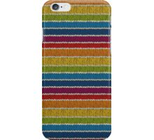 Knitted Pattern Set 19 - Rainbow 3 iPhone Case/Skin