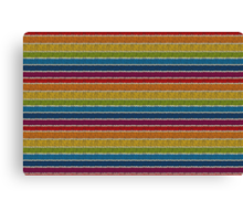 Knitted Pattern Set 19 - Rainbow 3 Canvas Print