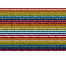 Knitted Pattern Set 19 - Rainbow 3 Photographic Print