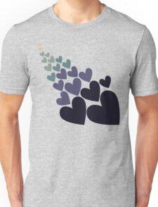 Retro blue love Unisex T-Shirt