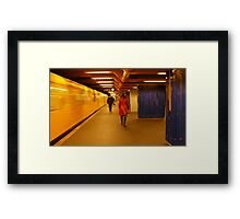 Yellow, red and blue... Framed Print