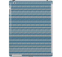 Knitted Pattern Set 22 - Blues 1 iPad Case/Skin