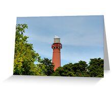 Old Barney - Barnegat Light House NJ - Behind the Trees Greeting Card
