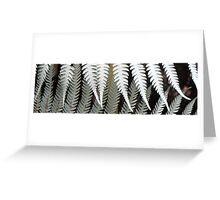 silver fern Greeting Card