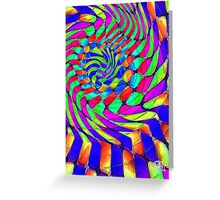 Tumblr 33 by CAP - MAGIC MOVING Optical Illusion Psychedelic Design Greeting Card