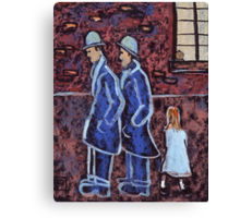 Two brothers and a younger sister Canvas Print