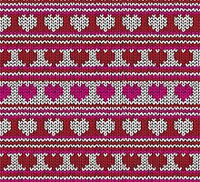 Knitted Pattern Set 23 - Red/Pink Hearts by wrapsio