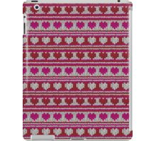 Knitted Pattern Set 23 - Red/Pink Hearts iPad Case/Skin