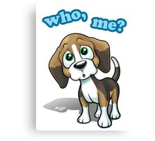 Beagle - Who, Me? Canvas Print