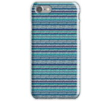 Knitted Pattern Set 24 - Blues 2 iPhone Case/Skin