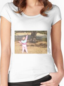 ~natural~giving back~ Women's Fitted Scoop T-Shirt