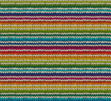 Knitted Pattern Set 21 - Rainbow 4 Sticker