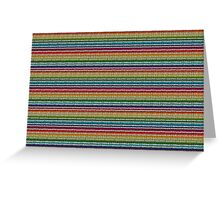 Knitted Pattern Set 21 - Rainbow 4 Greeting Card