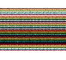 Knitted Pattern Set 21 - Rainbow 4 Photographic Print