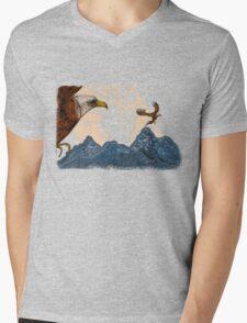 Eagle Flight Mens V-Neck T-Shirt
