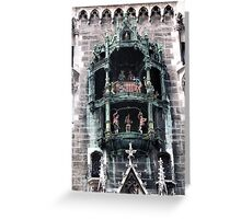 Munich Clock Tower Greeting Card