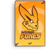 Konoha Foxes Team Canvas Print