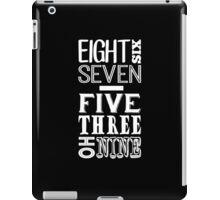 867-5309 (Light Print) iPad Case/Skin