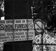 Smoke-free zone by Pascale Baud