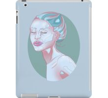Coral Lady (with background) iPad Case/Skin