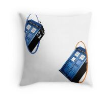 Tardis Portal Throw Pillow