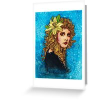 Lily Girl Greeting Card