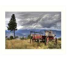 Little Red Wagon of the Wild West Art Print