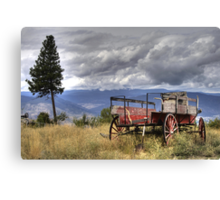 Little Red Wagon of the Wild West Canvas Print