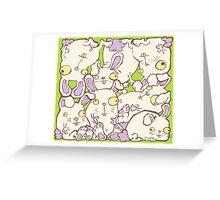 Crazy Bunnies Greeting Card