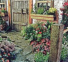 Stylized photo of an English cottage garden. by NaturaLight
