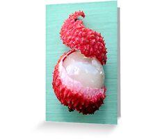 Peeled Lychee Greeting Card