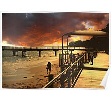 Golden sunrise Hervey Bay Poster