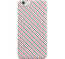 Diagonal Stripes - Red/Blue iPhone Case/Skin
