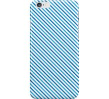 Diagonal Stripes - Blue iPhone Case/Skin
